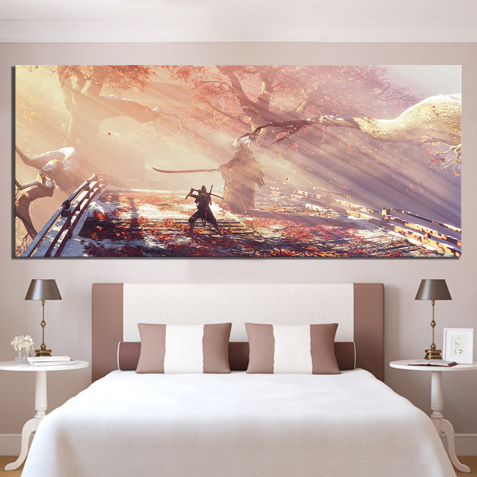 1 Piece HD Picture Print Sekiro Shadows Die Twice Video Game Scene Poster Landscape Wall Art Canvas Paintings for Home Decor 4