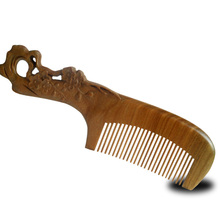 Pure natural hand carved plum Green Sandalwood comb for hair straightener professional anti-static with beautiful packaged