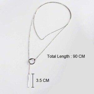 Image 3 - Vermelho árvores marca real 925 prata, joia fina estilo novo 90 cm longo colar de prata para mulheres