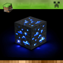 Minecraft Game Light Up Toy Night Lamp Redstone Ore Square Minecraft Lights LED Minecraft Figure Kids Gift  Home Decor Lighting цены