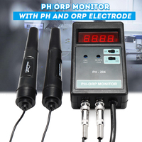 Marine Pinpoint PH ORP Monitor Kit With Probe LCD Digital Thermometer Temperature Meter Wallmount Testing Equipment Controller