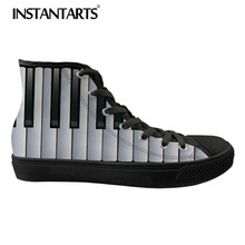 INSTANTARTS Men's Casual Canvas Shoes Classic Spring High To