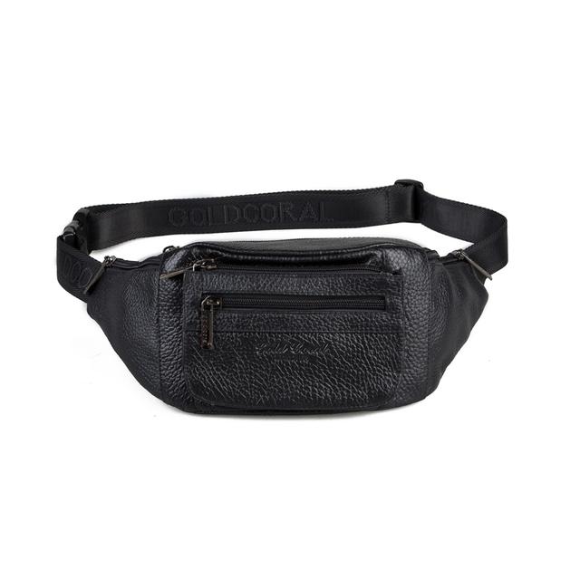 100% garantía genuina de cuero casual hombres viajan bolsas de hombro fanny paquetes de la cintura con alta calidad masculina bolsa de hombre