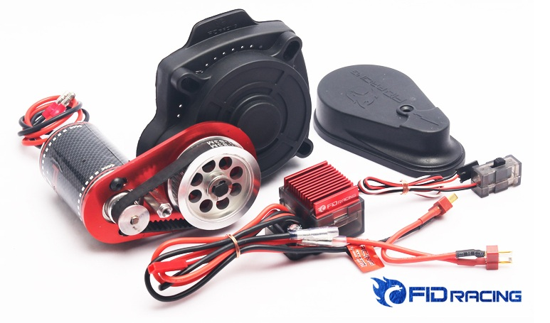 FID S Remote Control Electric Starter for Losi 5ive Losi DBXL Baja 5B 5T SS billet rear hub carriers for losi 5ive t