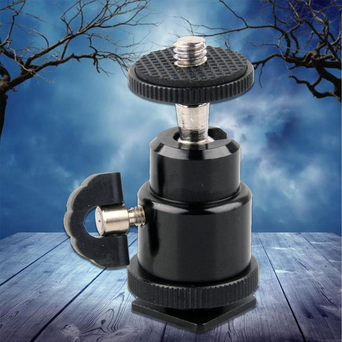 Centechia For Camera Tripod LED Light Flash Bracket Holder Mount 1/4 Hot Shoe Adapter Cradle Ball Head with Lock