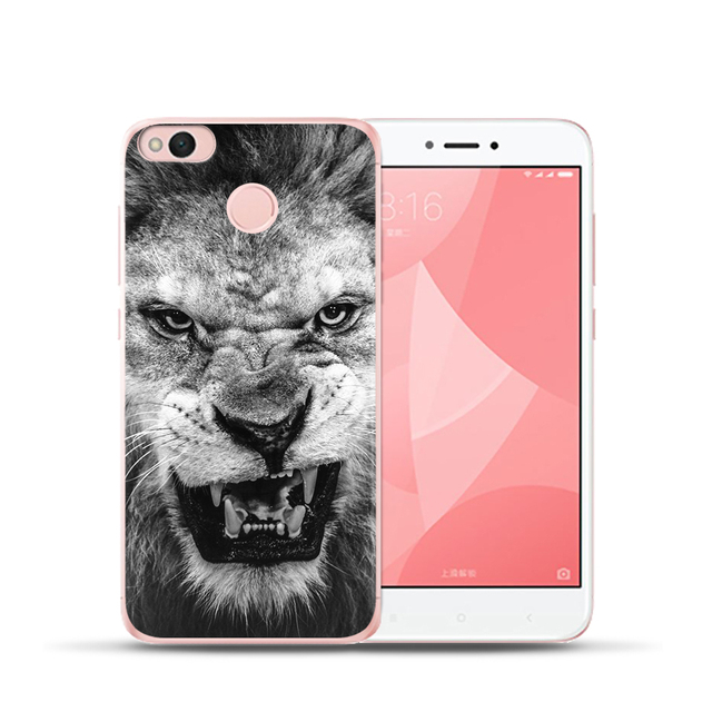 Moda tygrys lew obudowa do Xiaomi mi 5X mi a1 mi 6 czerwony mi 4 Pro uwaga 4X 4A 5A miękkiego silikonu przypadki telefonów pokrywa Etui Capa Coque