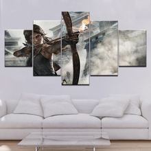 Canvas Painting Dream Shadow of the Tomb Raider game 5 Pieces Wall Art Painting Modular Wallpapers Poster Print Home Decor футболка print bar rise of the tomb raider