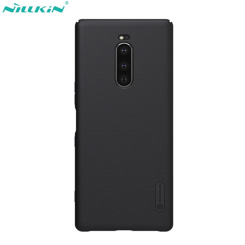 Caso Nillkin para Sony Xperia 1 Tampa Do Caso Escudo de Super Fosco PC Traseira Dura Matte Capa para Sony Xperia1 Shell preto