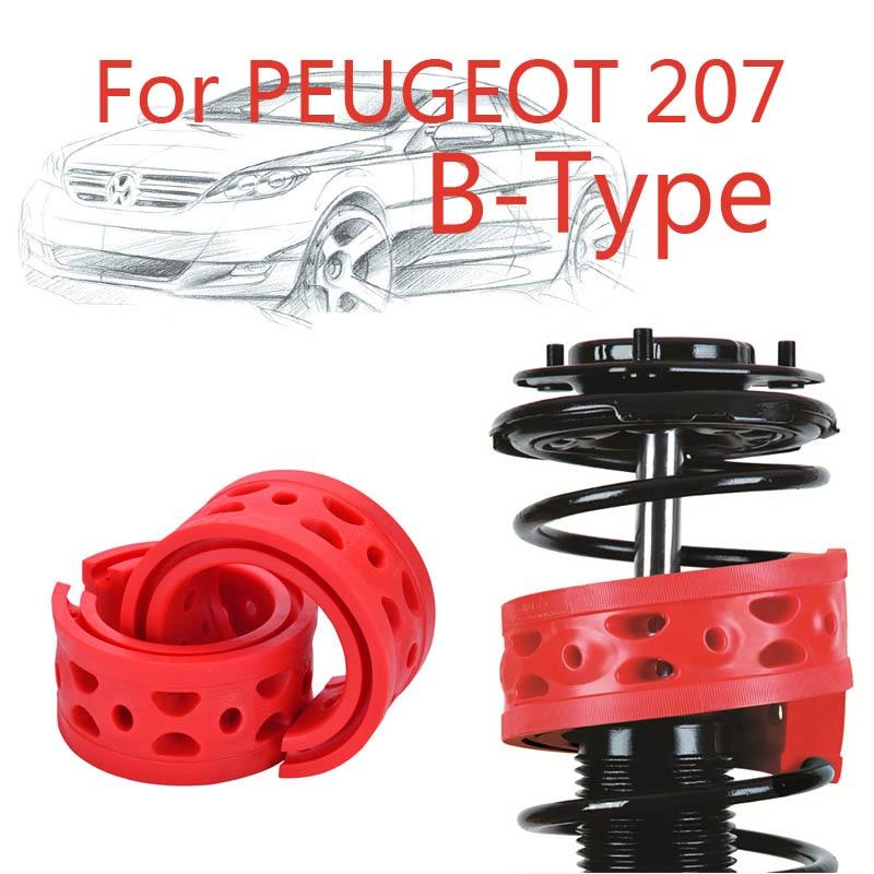 Jinke 1pair Front Shock SEBS Size-B nárazník Power Cushion Tlumič pružiny nárazník pro Peugeot 207