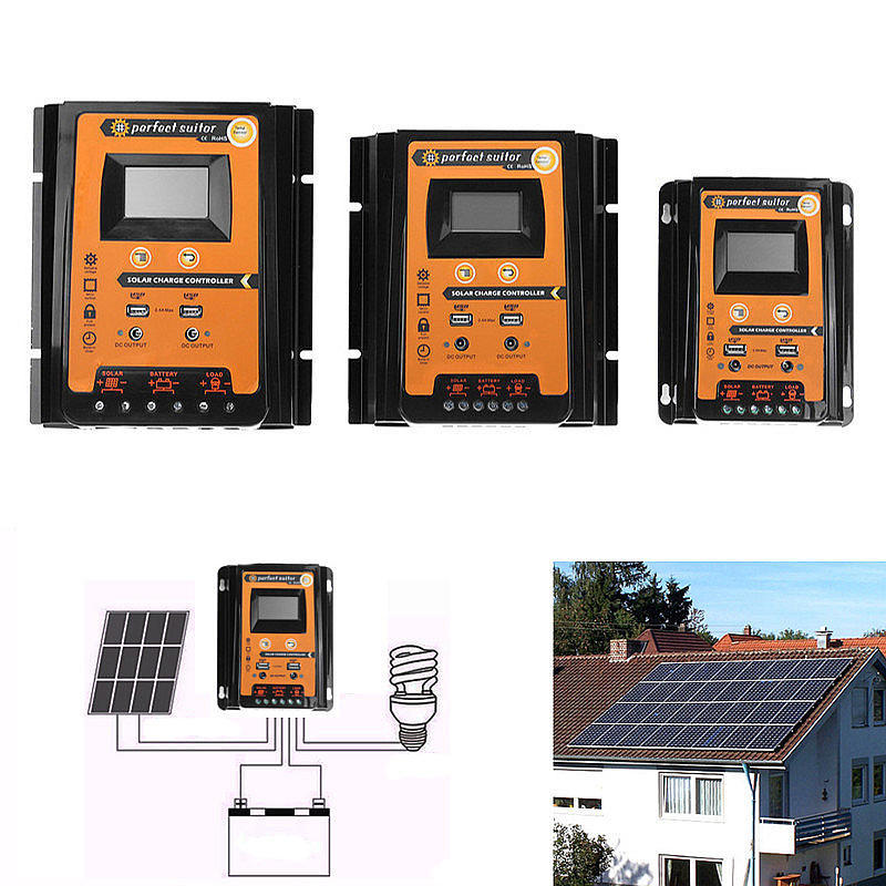 12V 24V 70A PWM Intelligent Solar Charge Controller Regulator LCD Display USB output for Lithium and Lead acid battery 10pec/lot