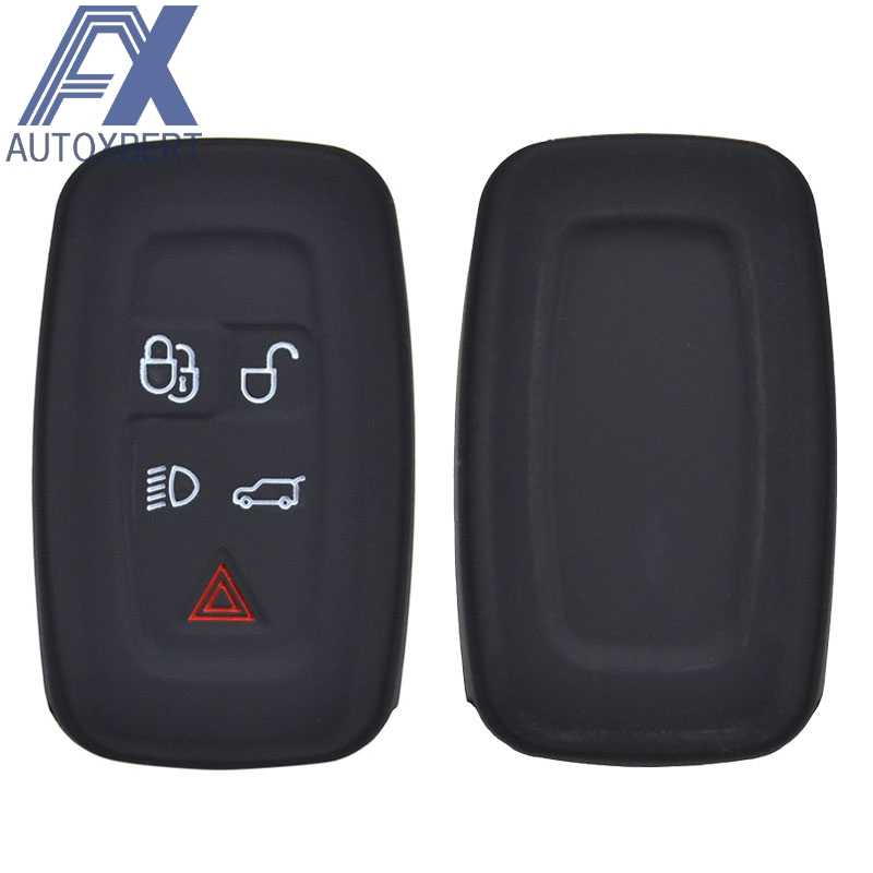 Ax Siliconen Remote Key Case Fob Shell Cover Voor Land Rover Discovery 4 Voor Range Rover Sport Vouge 2009 2010 2011 2012 Houder