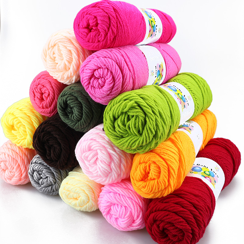 500g/Lot Milk Cotton Thick Yarn For Knitting Baby Bamboo Crochet Yarn Hand-knitted Hook Needle Work Wool Yarn For Hand Knitting