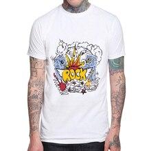 2019 Hot Sales Rock and Roll Men T-shirt New Fashion Boom Design Printed T shirt C Tops Short Sleeve Basic Mens Tee Shirts