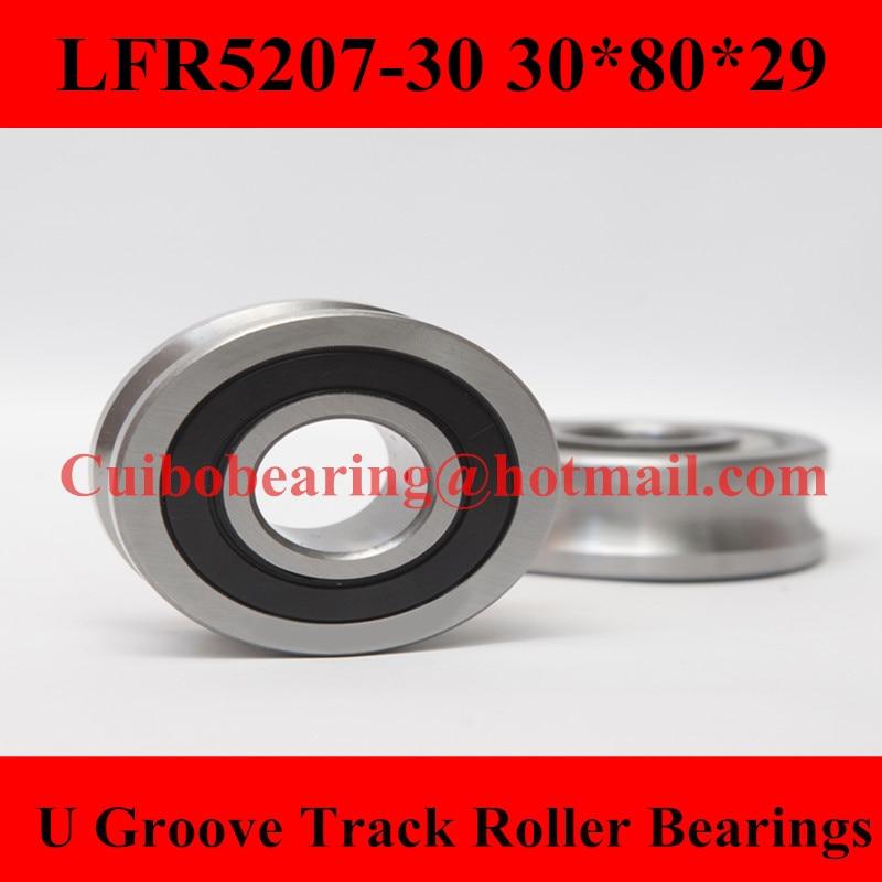 где купить LFR5207-30 NPP Groove Track Roller Bearings LFR5207 (Rubber Seals) size:30*80*29mm по лучшей цене
