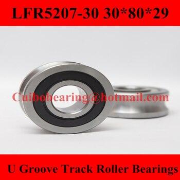LFR5207-30 NPP Groove Track Roller Bearings LFR5207  (Rubber Seals) size:30*80*29mm