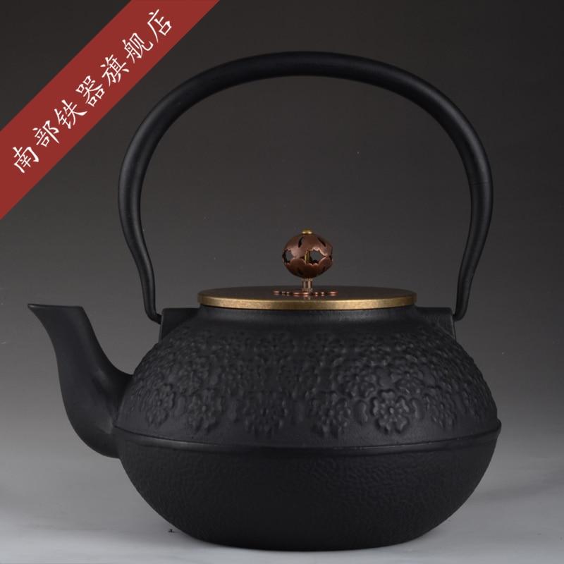 Authentic Cast Iron Tea pot Set Japanese TeaPot Tetsubin Kettle 1000ml Drinkware With Metal Net Filter Kung Fu Infuser Wholesale