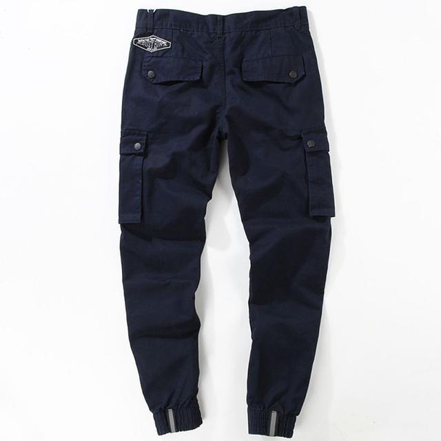 Militar de los hombres pantalones de algodón 2017 de moda chándal loose pantalones tácticos con bolsillos de la aptitud total de hip hop envío gratis