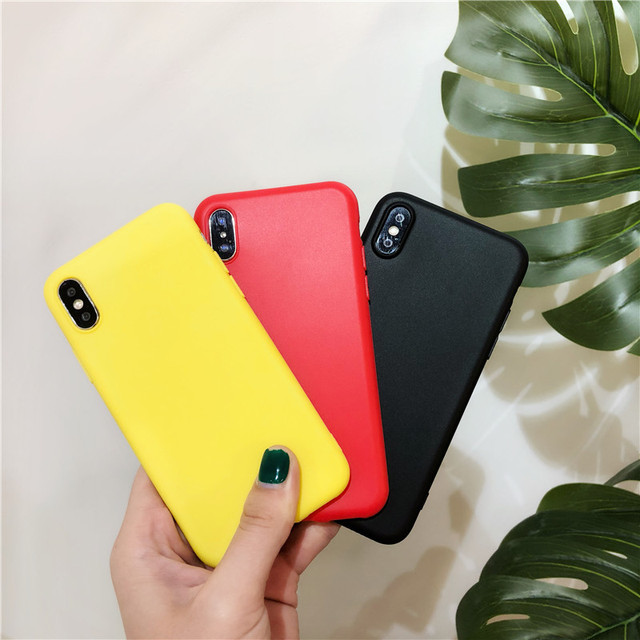 Simple Color Silicone Cute Phone Case For iPhone 5