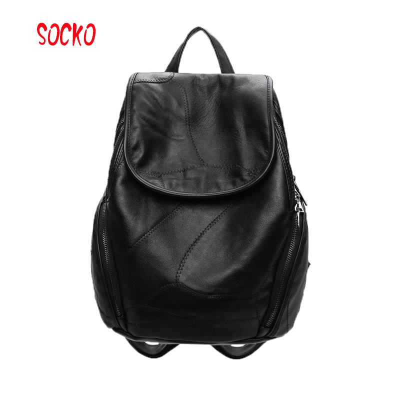 2017 New fashion summer women soft pu leather travel backpack women backpack student schoolbag women bags