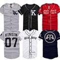 2016 MISBHV KNYEW 07 DXPECHEF 99 Béisbol Camiseta Jersey Último Rey LK Hip Hop de Los Hombres y Parejas de Mujeres Camisetas de Algodón Tees