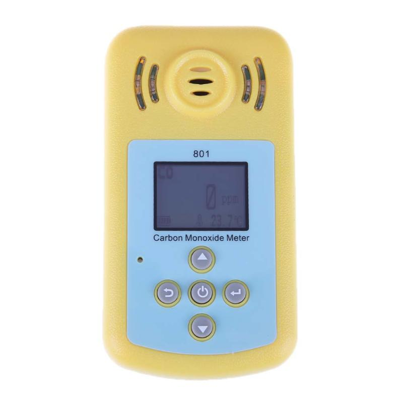 LCD Display Digital CO Gas Detector Carbon Monoxide Measurement Sound Lighting Alarm Gas Meter