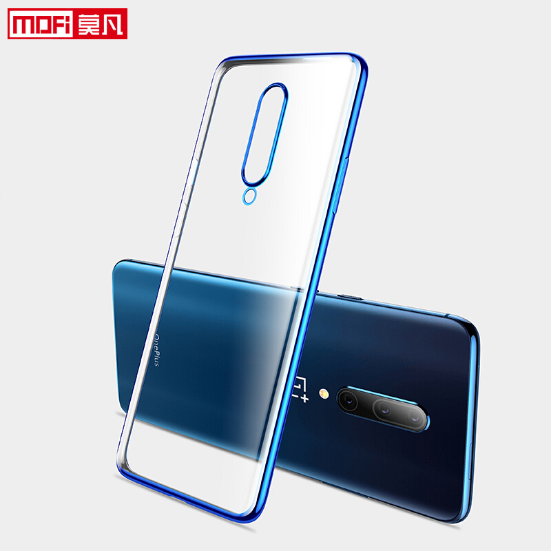 Case For OnePlus 7 Pro Cover transparent oneplus 7 case clear soft back tpu ultra thin silicone backmofi oneplus 7 case-in Fitted Cases from Cellphones & Telecommunications