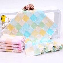 27*27 см 2 слоя клетчатая хлопковая марля для маленьких детей Детская ванна душ Лицо Салфетки для рук тряпочка для мытья нагрудники платок