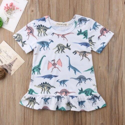 Bescheiden Kleinkind Baby Kid Mädchen Rüschen Dinosaurier Lose Sommer Kleid Party Sommerkleid Kleidung Babys Sommer Baumwolle Mode Niedlichen Baby Kleidung In Den Spezifikationen VervollstäNdigen Mutter & Kinder