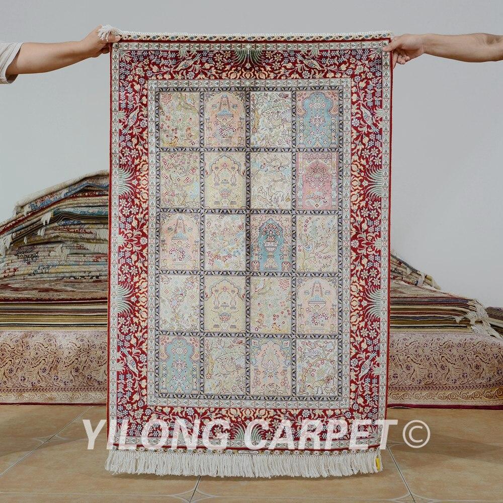 Hereke Silk Rug Youtube: Yilong 2.7'x4' Hereke Silk Carpet Four Season Vantage