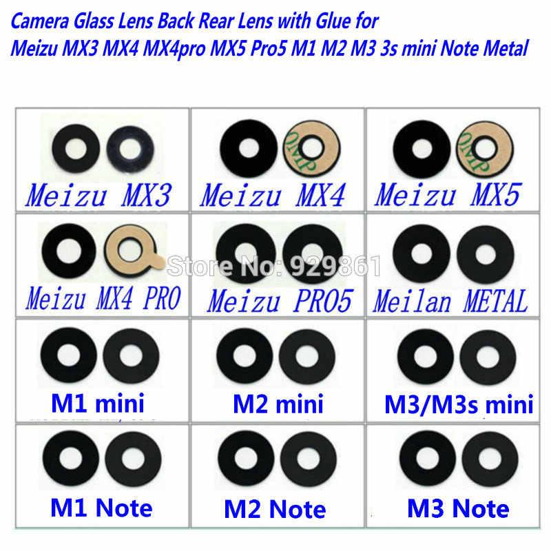 1 sztuk nowa soczewka aparatu tylnego z naprawy kleju do Meizu MX3 MX4 MX5 PRO5, Meizu M1 M2 3 metalowa uwaga uwaga 2 uwaga 3 telefon