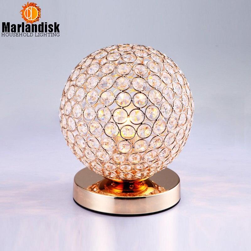 Современные хрустальные настольные лампы для спальни, гостиной, кабинета, офиса, современные хрустальные Серебристые/золотистые настольные лампы,(TL-53