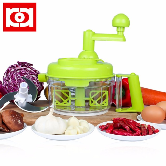 Manual Food Processor 6 In 1 Chopper Blender Mincer Dicer Mixer And Whipper For Home By KEOUKE