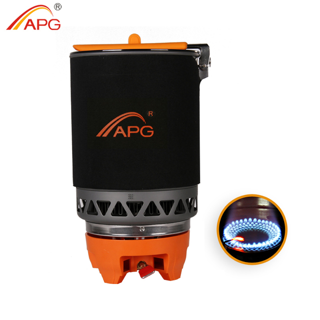 APG Portable Camping Gas Burners 1600ML System Camping Flueless Gas Stove Cooking System