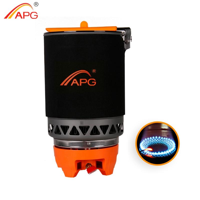 Brûleurs à gaz de Camping portatifs APG système de cuisson de cuisinière à gaz sans soudure de Camping 1600 ML