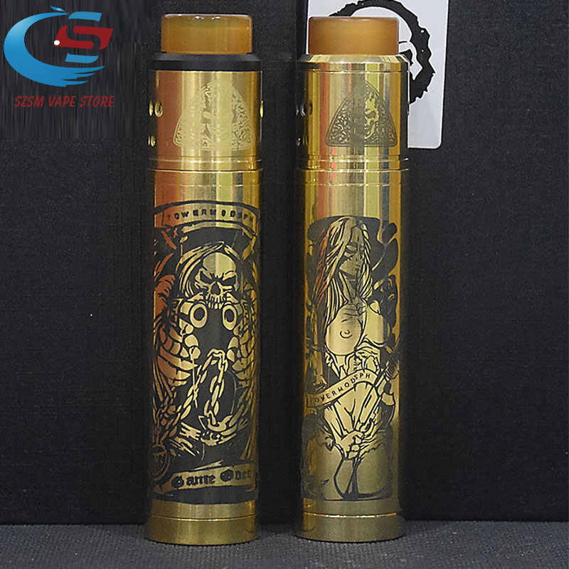 original SUB TWO KIT 18650 battery Brass Mechanical Mod 24mm Vapor Vaporizer vape VS Tower mod KIT elthunder MOD GET LOW V3