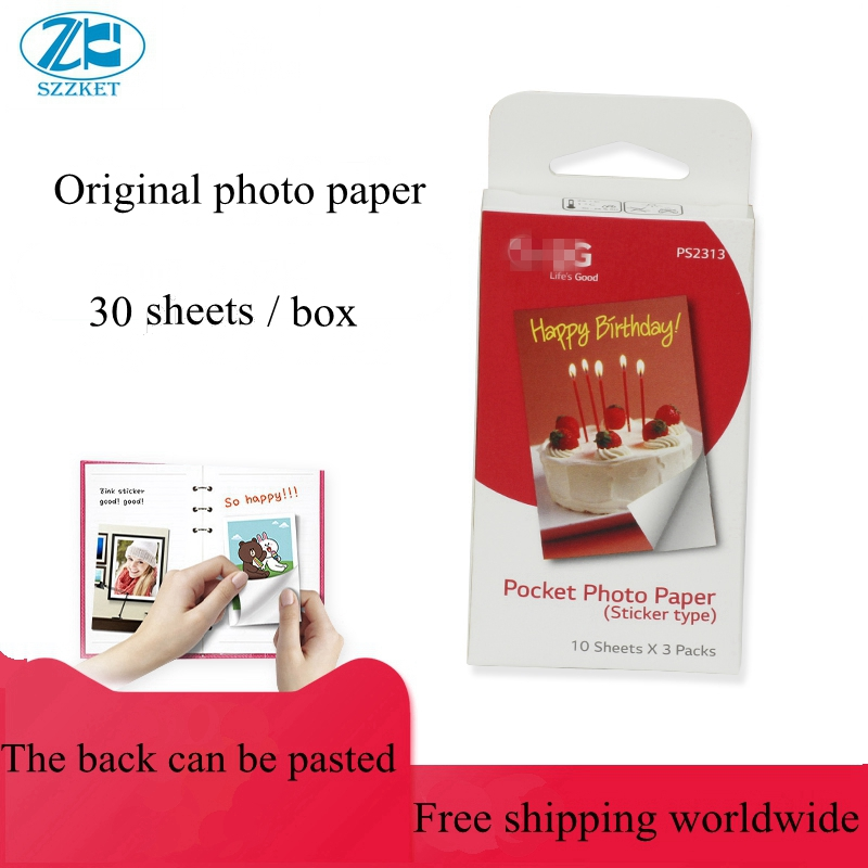 30 Sheets (1box) For LG Photo Paper PD251 PD239  PD261 PD233 PD269  Paste Photographic Paper Paste Photo  Paper
