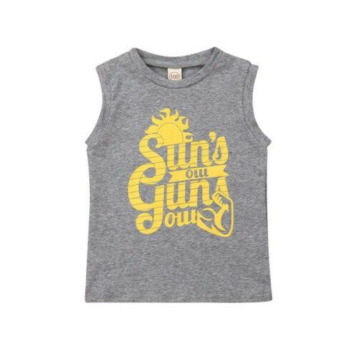חדש קיץ ילדי ילדה תינוק ללא שרוולים כותנה חולצה החולצה חולצות בגדי 1-6 T