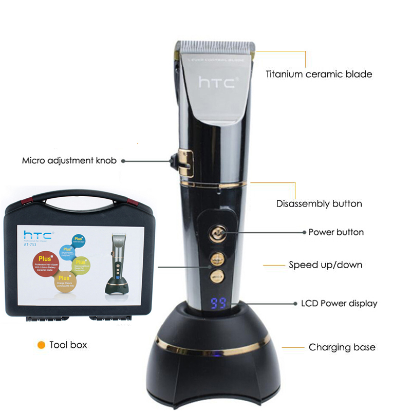 Professional Electric Hair Clipper 2500mA LCD Display Rechargeable Hair Trimmer For Men Beard Shaver Barber Hair Cutting Machine-in Hair Trimmers from Home Appliances