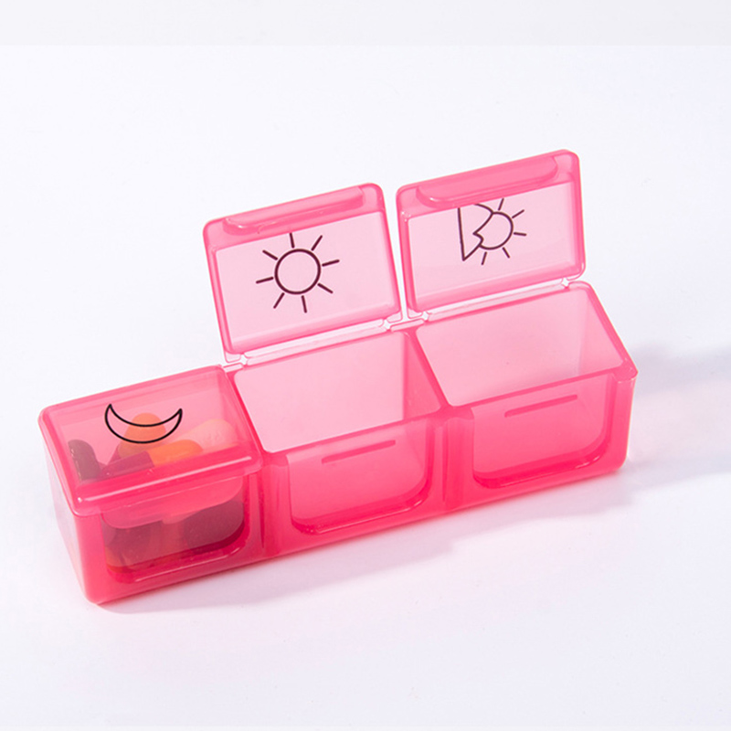 Travel Friendly 3 Times A Day 7 Day Pill Organizer for Storage of Pills with 21 Compartments for Healthy Care 1
