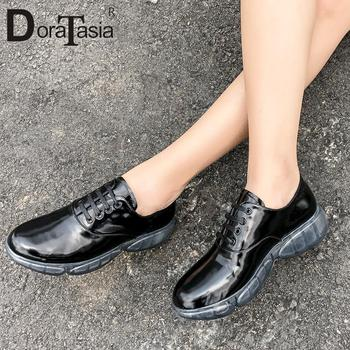 DORATASIA New Fashion Genuine Leather Shoes Flats Woman Concise Soft Top Quality Spring Autumn Flats Women Shoes Woman