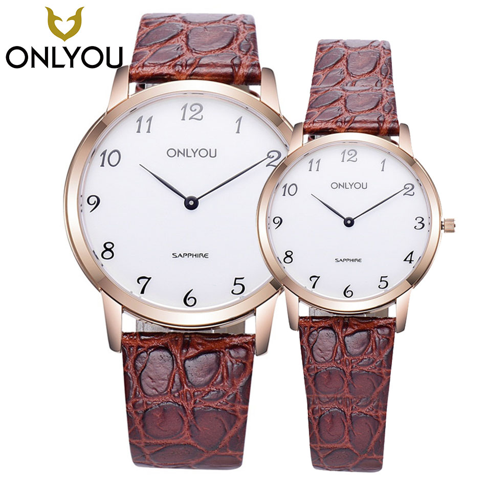ONLYOU Fashion Casual Watches Quartz British Style Business Watch For Man Woman Top Brand Designer Couple WristWatch in Gift Box