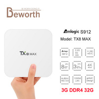TX8 Max Amlogic S912 Octa Core Android 6 0 TV BOX 3G 16G BT4 1