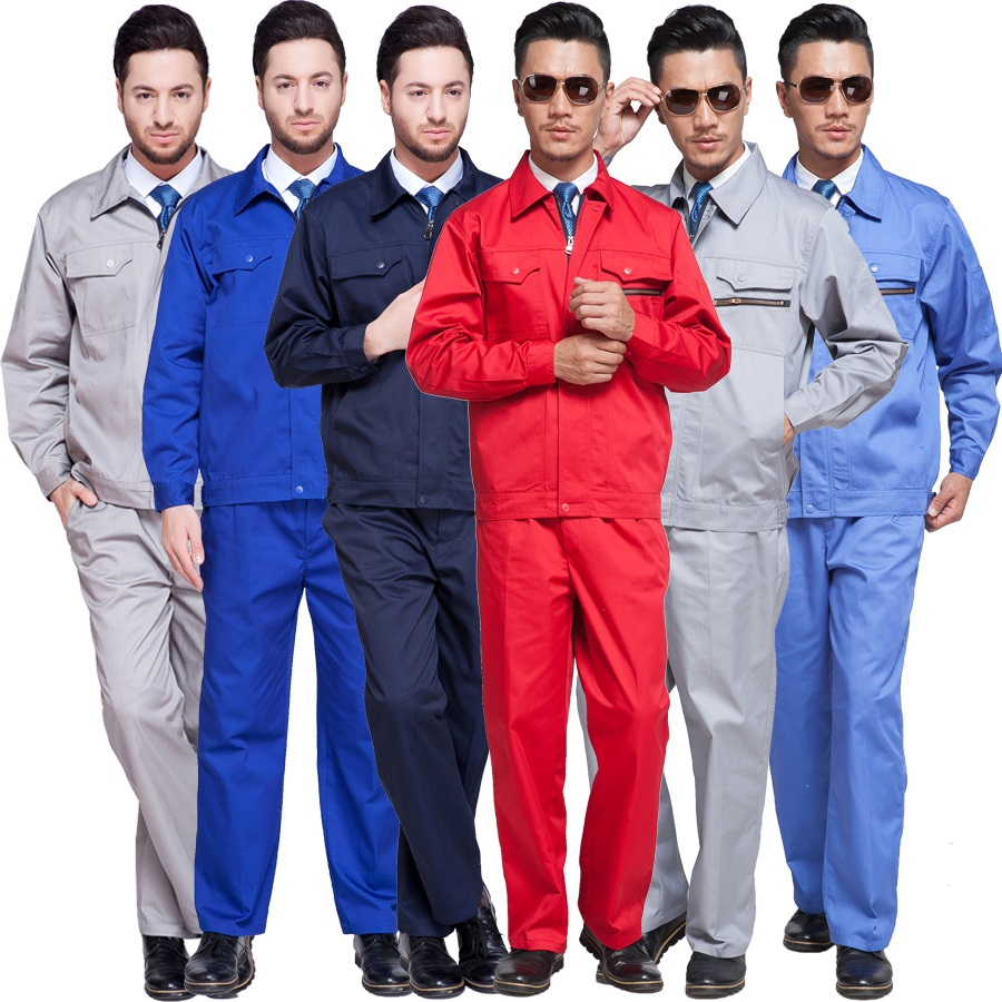 10 Set Long-sleeve Work Wear Set Anti-static Work Clothes Gas Station Oil In Explosion-proof Work Wear Motor Repair Uniforms