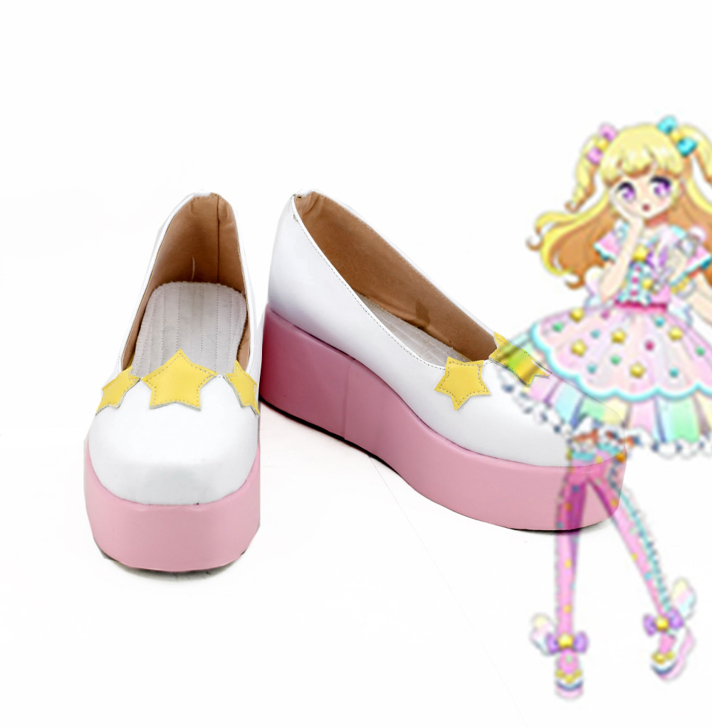 Idol time Pripara yumekawa yui Cospaly Shoes Boots yumekawa SoLaMi SMILE Cospaly Shoes Boots Cosplay Accessories ver 2.0