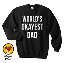 Worlds Okayest Dad Christmas Gifts Crewneck Sweatshirt Unisex More Colors XS - 2XL