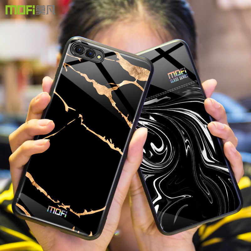 For Huawei honor 10 case Mofi for Huawei honor 10 lite case cover honor 10 case back cover marble grain flow wave black white