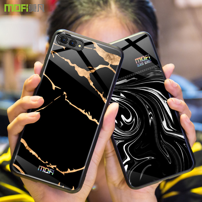 Per Huawei honor 10 caso Mofi per Huawei honor 10 caso lite copertura onore 10 caso della copertura posteriore di marmo a grana flusso onda nero bianco