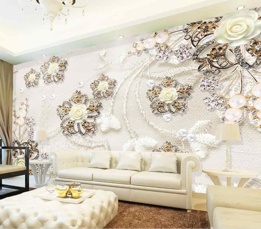 Europea fonds d'écran de luxe pour salon imprimer Photo motif d'or papier peint brique mur personnalisé 3D moderne Photo papier peint