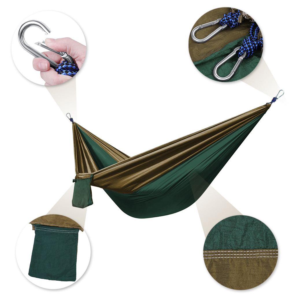 enkeeo 2 person double parachute hammock nylon fabric portable backpacking camping hammock with 2 premium tree straps army green in tent accessories from     enkeeo 2 person double parachute hammock nylon fabric portable      rh   aliexpress