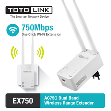 TOTOLINK EX750 11AC 750Mbps Dual Band Wireless Range Extender with 2pcs of 5dBi External Antennas(China)